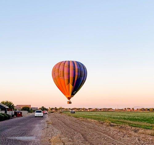 Chasing a hot air balloon