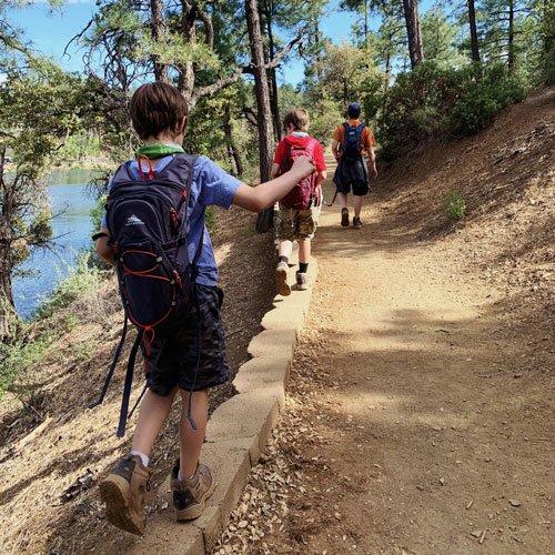 Free family adventure idea -- hiking.