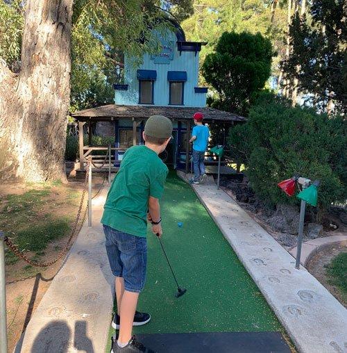 Miniature golf at Golf N' Stuff in Tucson