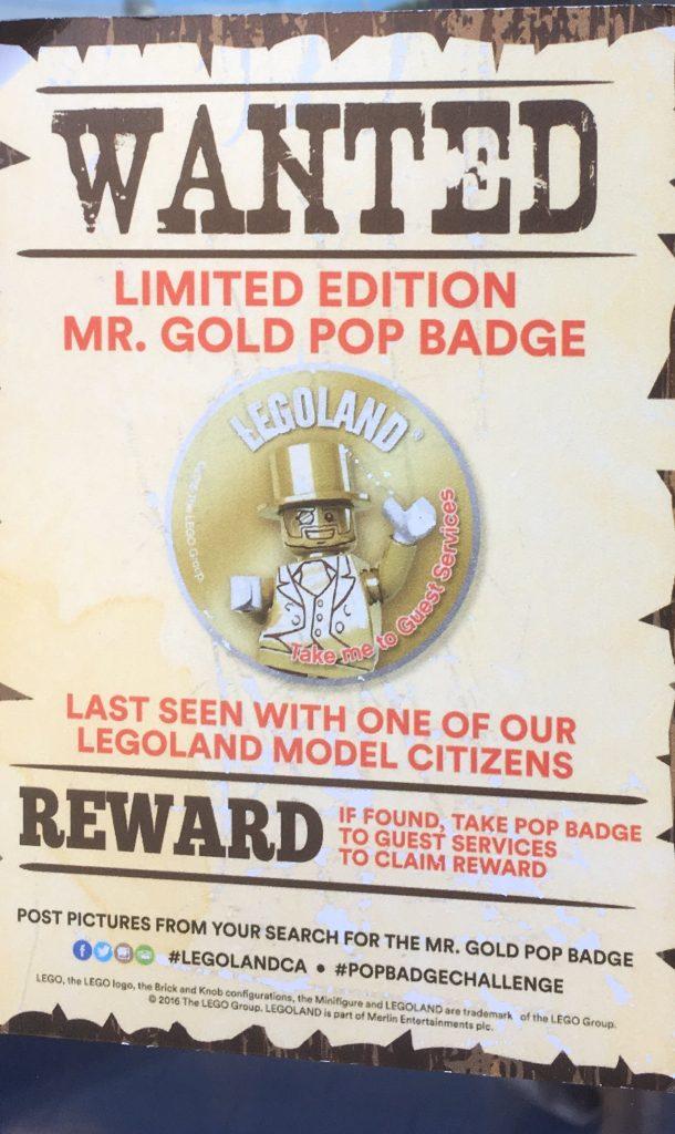 Limited Edition Mr. Gold Pop Badge