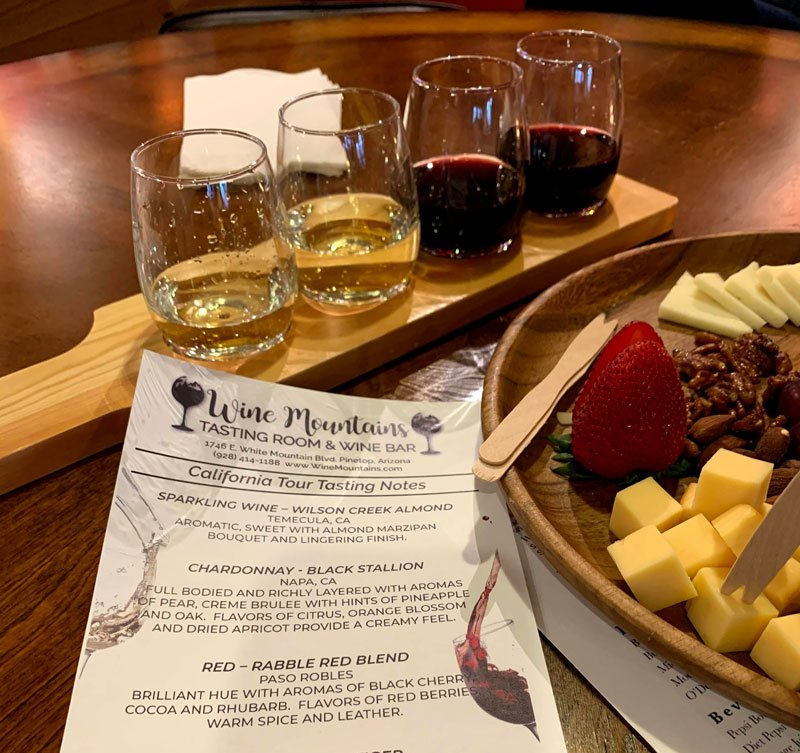 Date night at Wine Mountains in Pinetop AZ